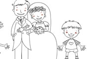 Wedding coloring game