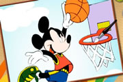 Mickey Basketball Online Coloring game